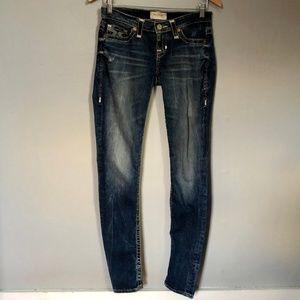 Big Star Liv Skinny Distressed Embellished Jeans